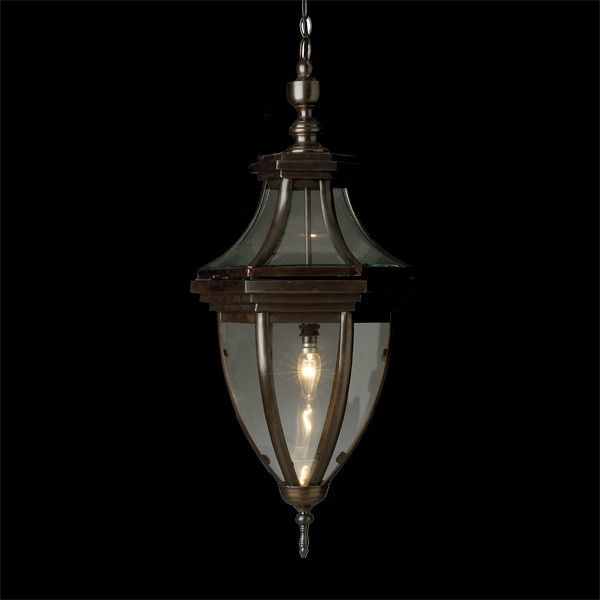 An authentic and well made bronze lantern that would add character and warmth to any space.    Finishes Bronze   Dimensions:  H - 700mm, D - 300mm, Chain - 750mm  Globe 240V 40W (not included)