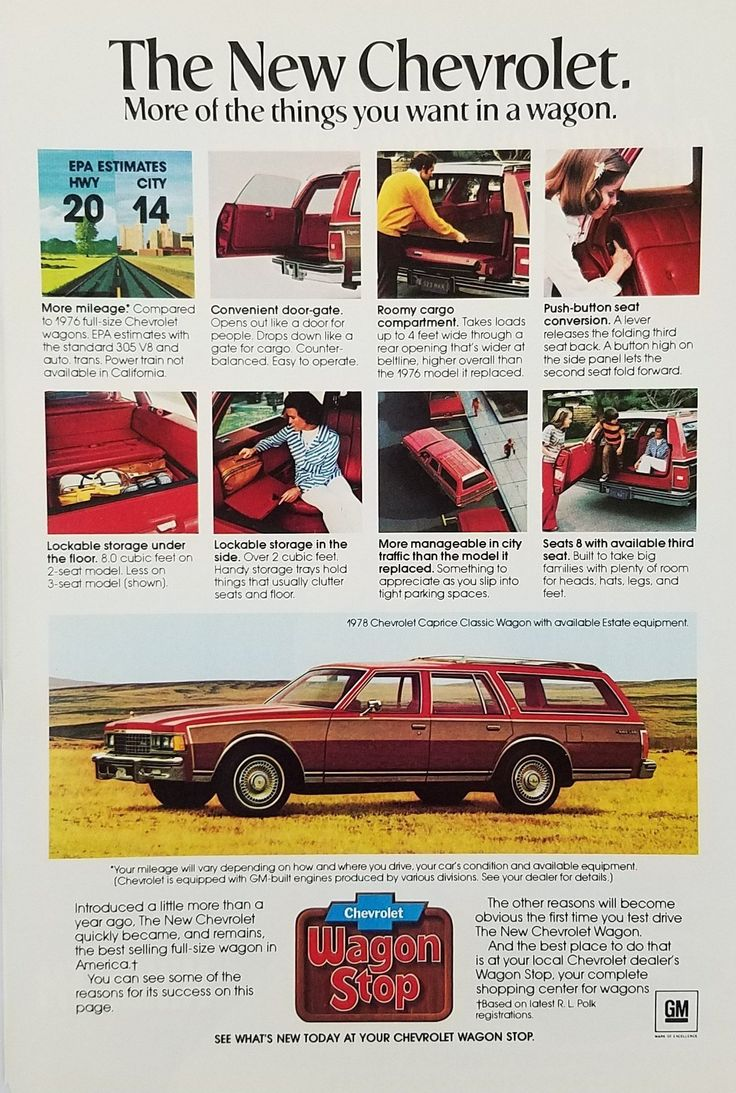 1978 Chevrolet Caprice Classic Station Wagon Automobile Vintage Ad