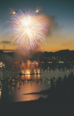 Fireworks Over English Bay, Vancouver, Canada