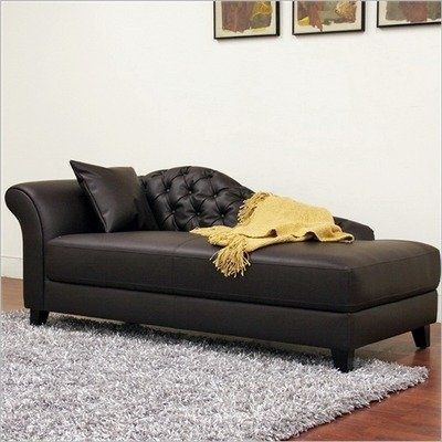 lowest price on baxton studio josephine brown leather victorian modern chaise lounge shop today