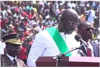 FENMARK BLOG: GEORGE WEAH SWORN IN AS LIBERIA'S 24TH PRESIDENT (...