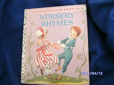 Little Golden Book Nursery Rhymes Corrine Malvern 1942 1947 Ebay