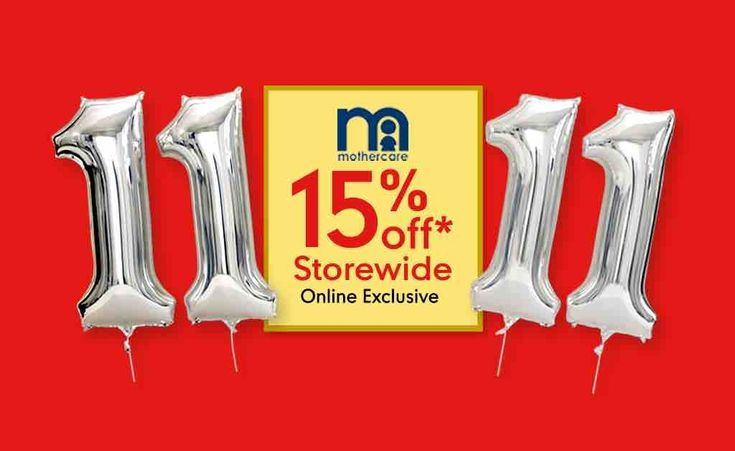 Mothercare Singapore 11.11 Online Exclusive Sale Up to 15% Off Storewide 11 Nov 2017