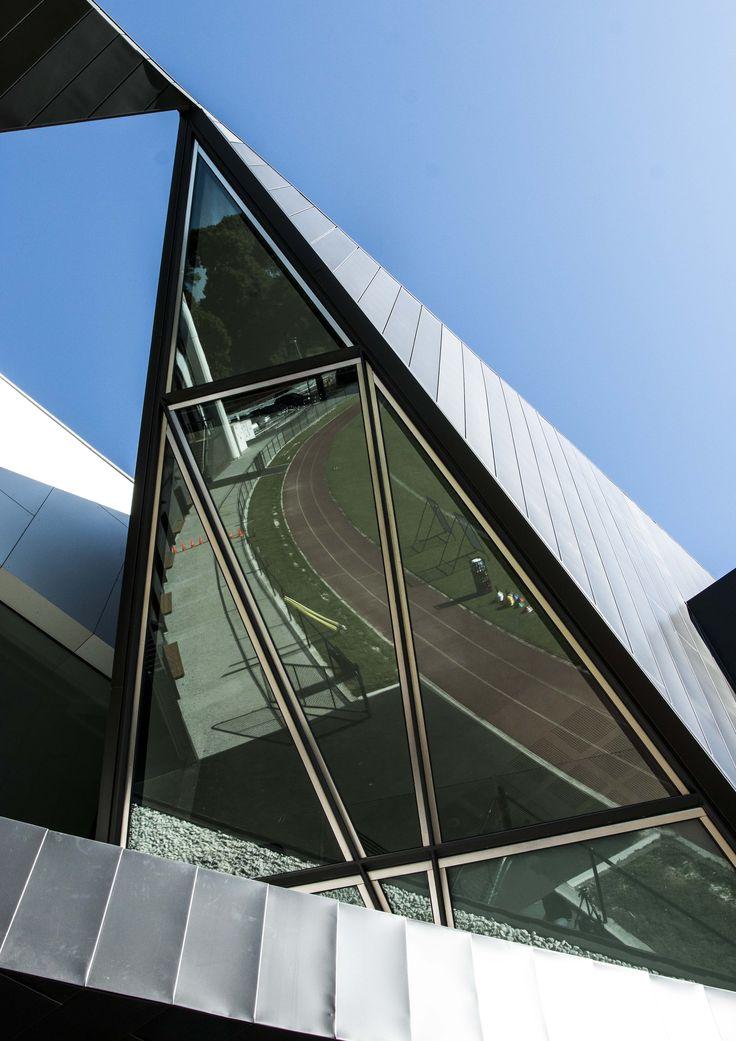 Collingwood Community Centre, Olympic Park, Melbourne. Double Glazed windows by EDGE Architectural. http://www.edgearchitectural.com.au/portfolio_item/collingwood-community-centre-olympic-park/ #footy #collingwood #architecture #melbourne #design #feature #glazing #glass #architectural #olympicpark