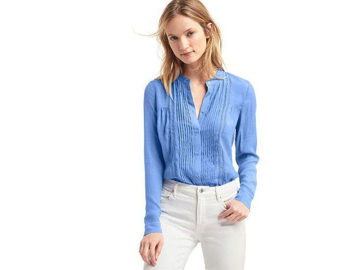 Gap Camisa Lisa Corte Recto