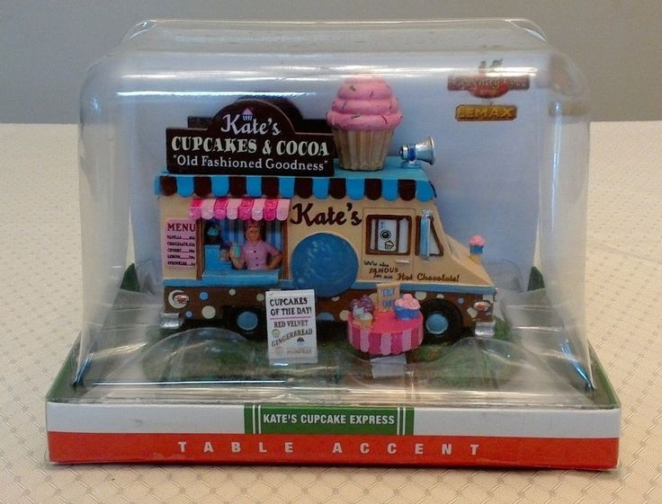 Lemax Coventry Cove Kate's Cupcake Express Truck Cocoa Table Accent 2015 NIB