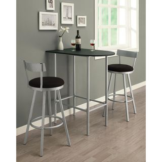 Silver/ Black Swivel Stool Bar Set - adjustable height and decent reviews 41 inches high x 36 inches wide x 24 inches deep
