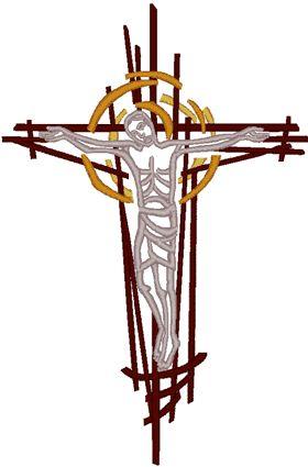 Machine Embroidery Design: Modern Crucifixion #1