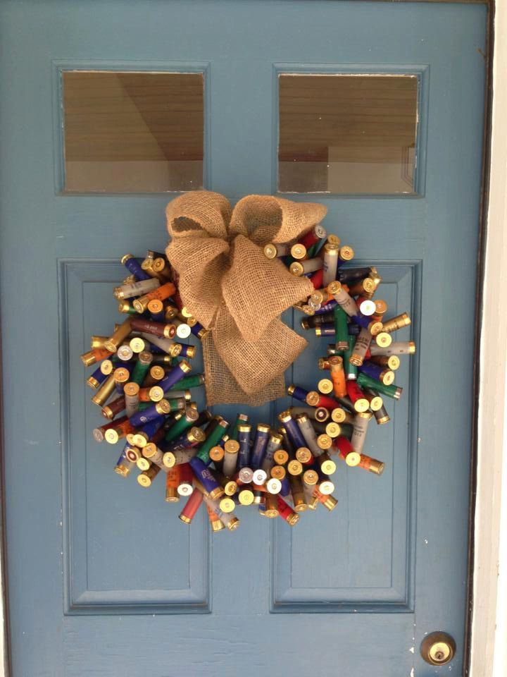 Shotgun Shell Wreaths by TheNethouse on Etsy, $45.00