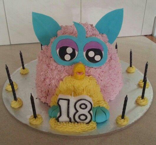 Adorable Furby cake!