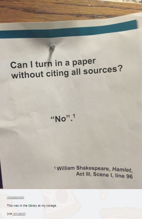 Love this quote from Hamlet