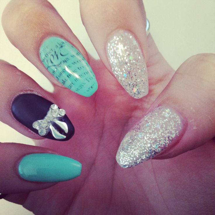 My new ballerina shaped nails for v-day! | All Hail the ...