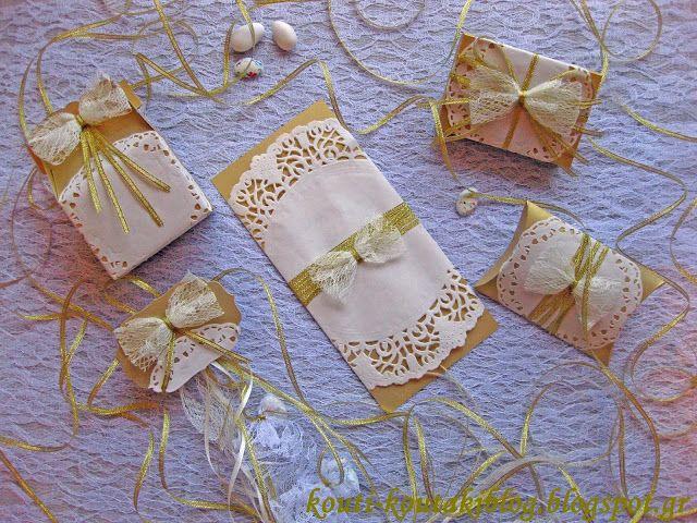 Προσκλητήρια - Μπομπονιέρες Γάμου Βάπτισης: Γάμος στα χρυσά και Χριστουγεννιάτικα!!!