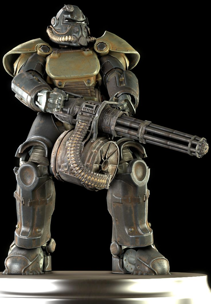 The T-51 power armor is a power armor set in Fallout 4. First seeing service - and inherently, great success - in the Anchorage Reclamation campaign, the T-51 power armor soon became standard issue for the army's armored infantry regiments. Developed at the West Tek research facility, the T-51 was the peak of pre-War power armor technology. It saw continuous service throughout the Great War, and is thought to be the force that drove the Chinese out of Anchorage.