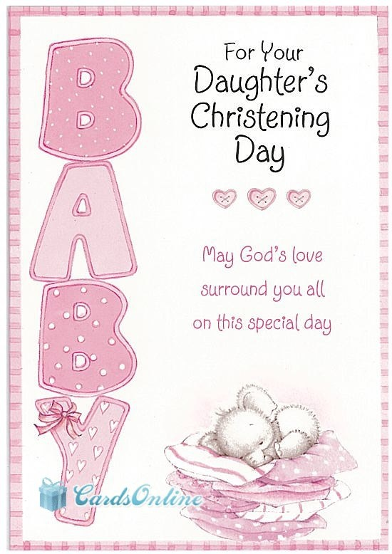 cardsonline.com.au Christening Girl $3.99. This Luxury Greeting Card is one of many available. For more details & information, you can click on the Image to find a link to our website and this Card.
