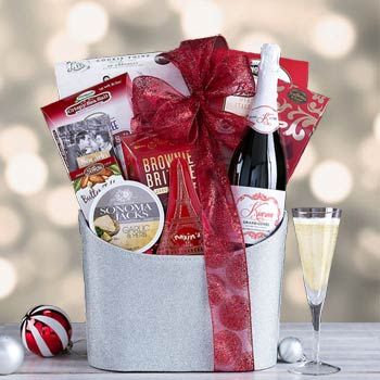 Elegant Business Champagne Gift Basket. See more at www.pro-gift-baskets.com!