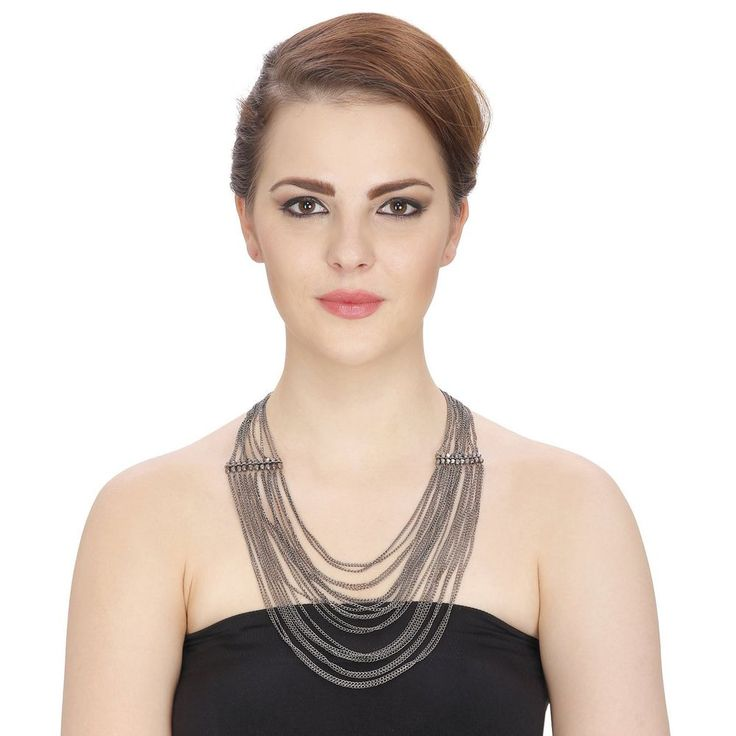 Bollywood Indian Multi Black Layer Designer Party Wear Necklace Set  | eBay
