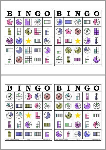 Bingo de Fracciones:                                                                                                                                                                                 Más