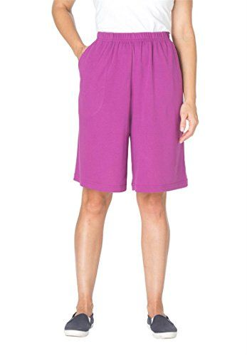 Women's Plus Size Shorts In 7-Day Knit * More info could be found at the image url.