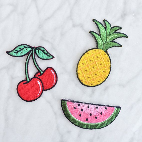 Watermelon Patch Iron on Embroidered by WildflowerandCompany