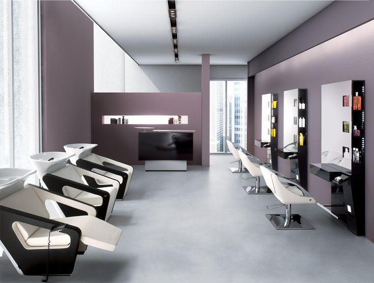 Mobilier salon ambiance nautilus bac de lavage fauteuil for Miroir virtuel coiffure