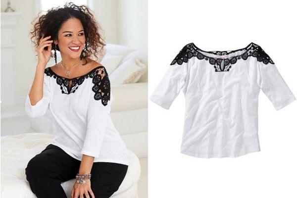 как декорировать кружевом простую блузку - Поиск в Google