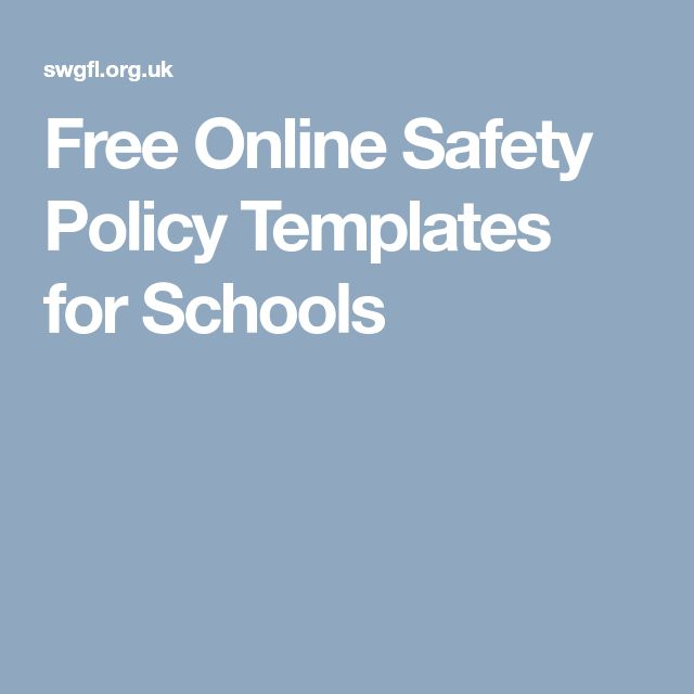 Free Online Safety Policy Templates for Schools
