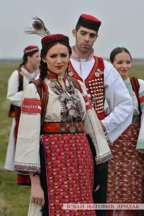 Serbian folk costume from Northern Dalmatia , Croatia