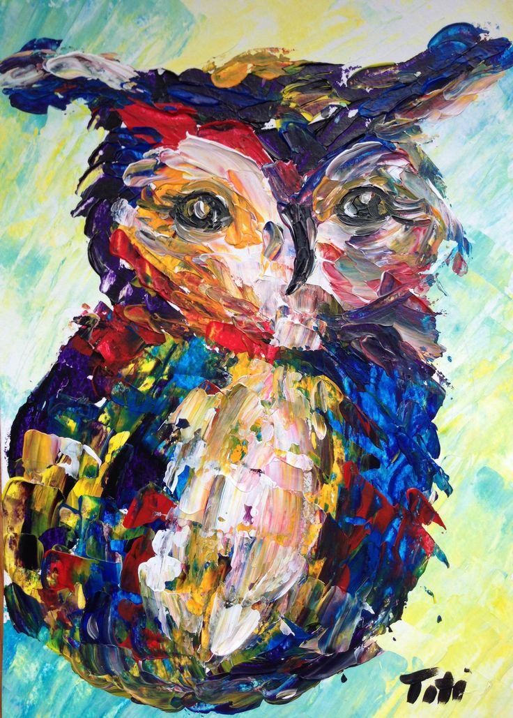 owl (painted with palette knife)