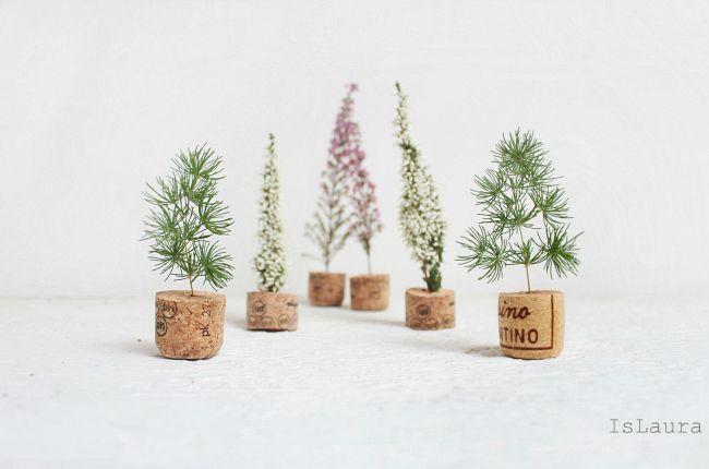 Mini alberi di Natale fai da te – Is laura