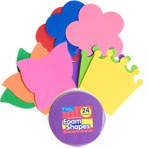 Crafter's Square Big Foam Shapes, 24-ct. Packs The crowns are a great craft project for King Bible lessons: David, Solomon, Esther, King Agrippa & Paul The flowers would be nice for Creation, God made... etc.
