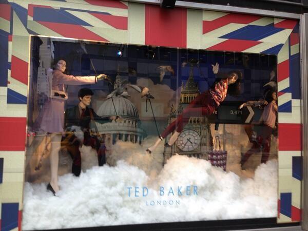 Ted Baker Best of British window display at Bloomingdales. @cw3sty