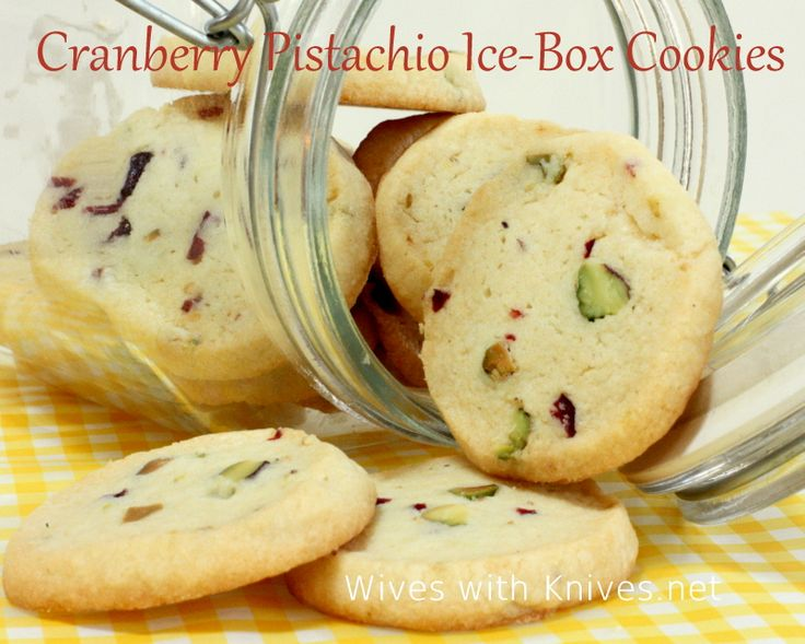 Cranberry Pistachio Ice-Box Cookies Recipe From McCall's Cookbook 1963 ...