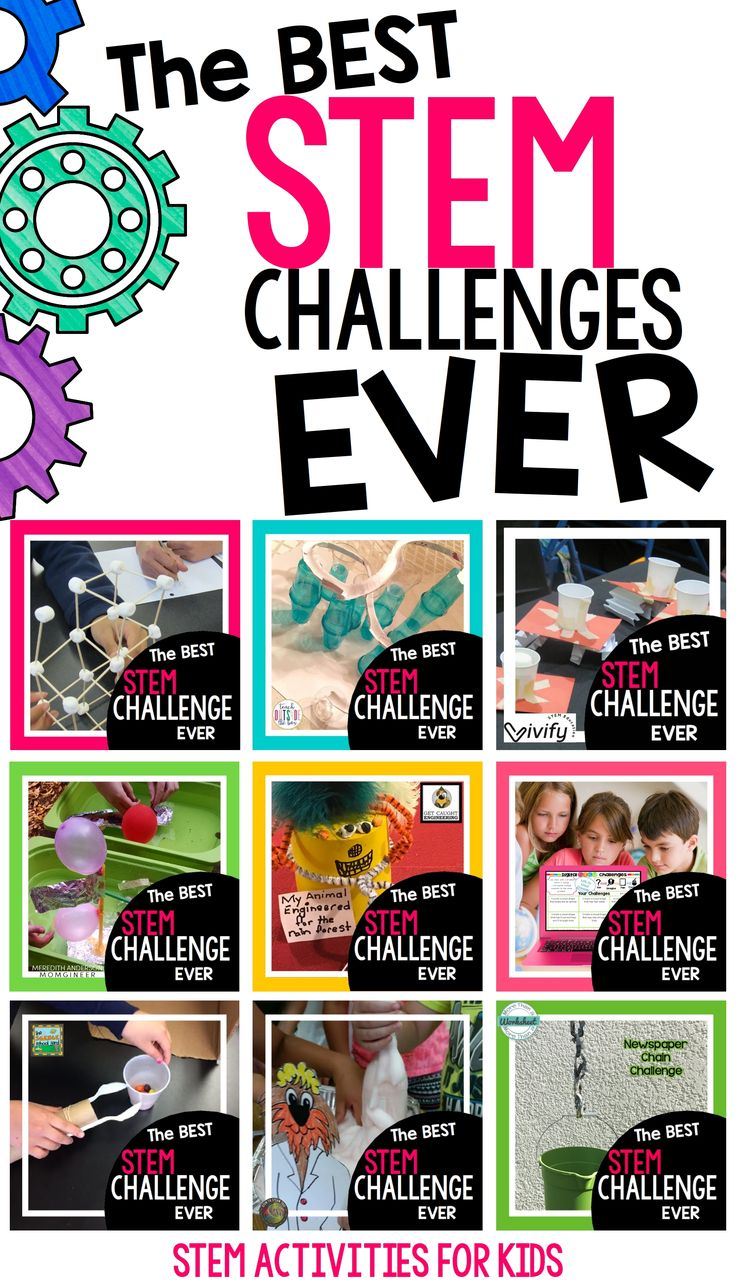 The best STEM challenges from the writers of STEM Activities for Kids. Toothpick STEM, Roller Coaster STEM, Space Lander STEM, Cargo Ship Design, Animal Adaptation, Digital STEM Challenges, Simple Machines, Sammie STEM Family Activity, and Newspaper Chain STEM