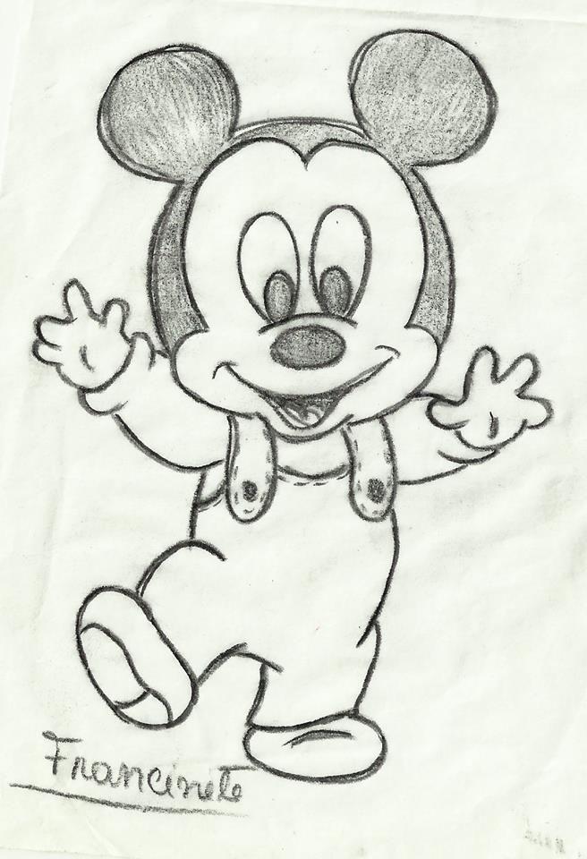 Bleistiftzeichnung – Mickey – # Mickey # Zeichnung #bleistiftzeichnungfixieren