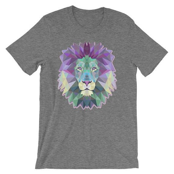 Pastel Lion Shirt Psychedelic Lion Head Iron Lion Zion Geometric Lion Shirt 90s Pastel Tee King of the Jungle Abstract Africa Animal by 25VintagePlace