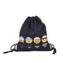 2017 Hot Sale 3D printing Backpack Drawstring Bag Women Fashion Casual Mochila Feminina Teenagers Girl 1PCS(China (Mainland))