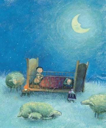 Mies van Hout - kinderboekillustraties  uit Daar buiten loopt een schaap