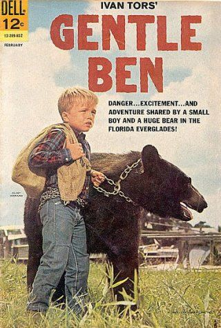 """GENTLE BEN, (TV Series 1967–1969)...Dennis Weaver told TV Guide in 1970 """"I liked him (Ben), but it was a cold relationship. Bears aren't like dogs and horses. Ben didn't know me from a bag of doughnuts."""""""
