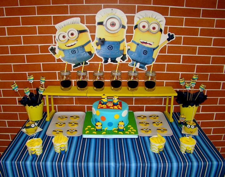 Despicable Me birthday party! See more party planning ideas at CatchMyParty.com!