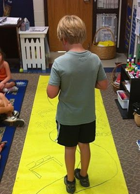 Storytelling Pathways: Walking the Fairy Tale  This is a great way to help children with retelling a story.  It builds comprehension, sequencing and it is fun!  It is simple - on a long piece of bulletin board paper - draw a winding path.  At the beginning of the path, draw a visual clue of the first event.  I did this
