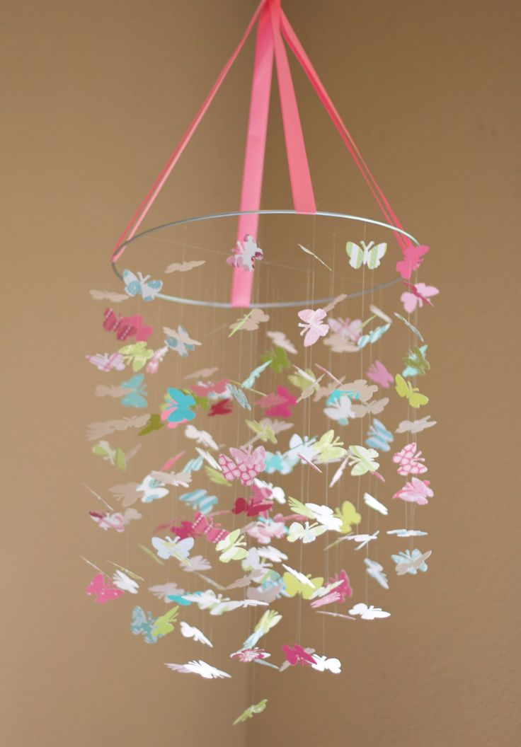 The Isabella Butterfly Mobile-Great For Baby Shower Gifts, Nurseries, Bedrooms, Birthdays. $68.00, via Etsy.