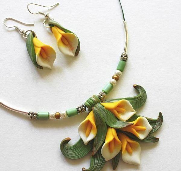 polymer clay jewlery | ... Polymer clay jewelry...my style and design Polymer clay garden jewelry: