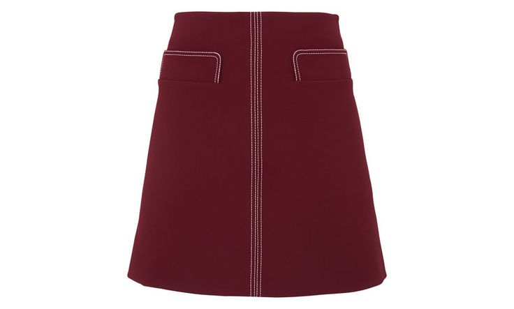 Rita Contrast Stitch Skirt