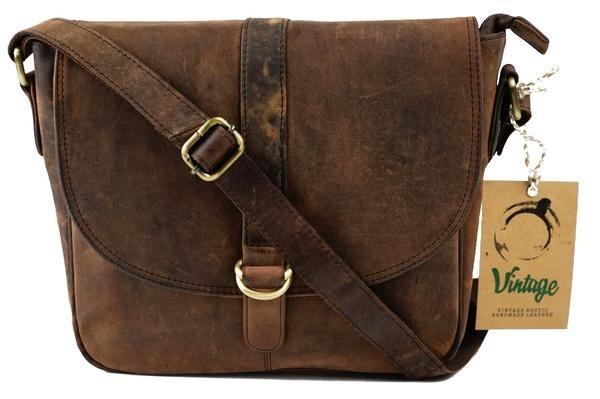 Vintage Leather Leather Bags, Leather Messenger Bag, Handmade