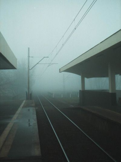 #train #tracks in the fog http://www.amazon.com/The-Reverse-Commute-ebook/dp/B009V544VQ/ref=tmm_kin_title_0