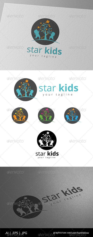Star Kids - Logo Design Template Vector #logotype Download it here: http://graphicriver.net/item/star-kids-logo/8646243?s_rank=685?ref=nexion