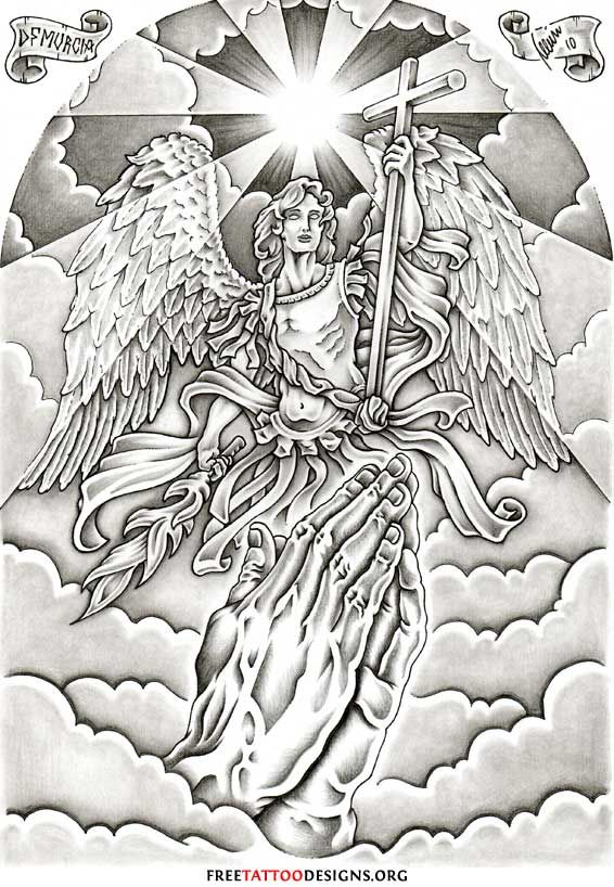 Archangel Michael tattoo-killer back piece design!