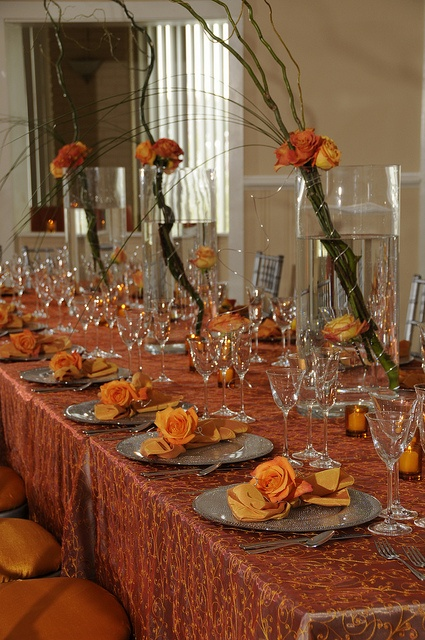 1000 ideas about orange table on pinterest orange table for Orange centerpieces for tables