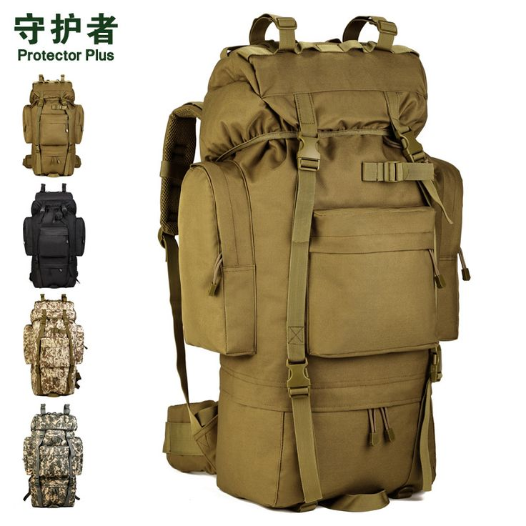 65L large outdoor waterproof mountaineering bags tactical backpack tourist travel large luggage bag  A3194